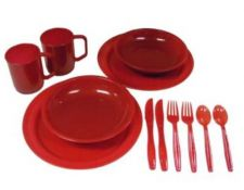 Buy COLEMAN 2 Person Dinner Set - Camp Kit - Tailgate, Picnics - Red Color - NEW