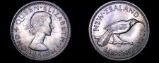 Buy 1962 New Zealand 6 Pence World Coin