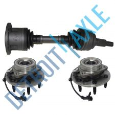 Buy 2 Front Wheel Hub Bearings GMC Chevy 6 Lug W/ABS+ 1 Front Driver Side Axle Shaft