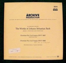 Buy THE WORKS of JOHANN SEBASTIAN BACH Overtures No. 2, No. 3 / Classical LP
