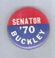 Buy New York Senator Candidate: Buckley Political Campaign Button~1