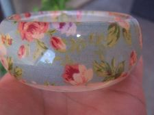 Buy Vintage Heavy Chunky Reverse Carved Lucite Bangle Flowers