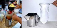 Buy PITCHER JUG STAINLESS + COTTON FILTER COFFEE/TEA SOCK STAINLESS HANDLE THAI