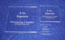 "Buy 3 Piece Square Set 1"", 2"", 3"" 1/8"" Clear Acrylic - Quilting Templates- No seam"