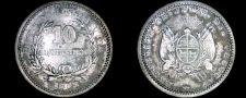 Buy 1893/77 Uruguay 10 Centesimo World Silver Coin