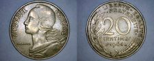Buy 1964 French 20 Centimes World Coin - France