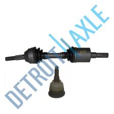 Buy 2 pc Set Front Driver Side CV Axle Shaft + Lower Ball Joint - w/o ABS - USA Made
