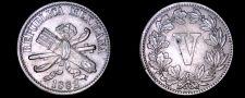 Buy 1882 Mexican 5 Centavo World Coin - Mexico
