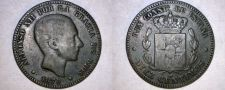 Buy 1879 Spanish 10 Centimos World Coin - Spain