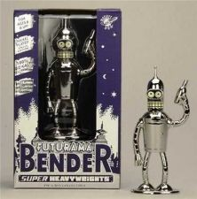 "Buy Futurama - Diecast - Die Cast Metal - Bender 5"" Shiny Super Heavy Weight"