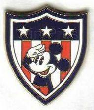 Buy Disney Mickey Shield Americana Flag patriotic pin/pins