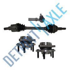 Buy Front Passenger CV Axle Shaft +2 NEW Tie Rods + 2 NEW Wheel Hub Bearing Assembly