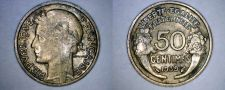 Buy 1939 French 50 Centimes World Coin - France