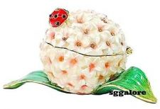 Buy New RUCINNI Swarovski Crystals BeJeweled LADYBUG Floral Trinket Jewelry BOX