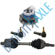 Buy 4 pc Set: Front CV Axle Shaft + 2 Outer Tie Rods + Wheel Hub Bearing w/ ABS