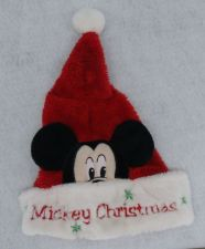 Buy Mickey Mouse Santa Christmas Hat Button Snap Disney Collectible Rare New/tag