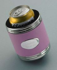 Buy Pink Leather Koozie - Free Engraving