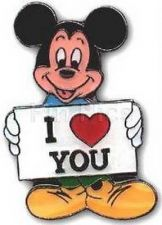 Buy Disney Mickey Mouse I Love You with Heart German Pro pin/pins