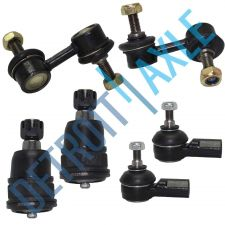 Buy NEW 6 pc Kit - 2 Front Lower Ball Joint + 2 Outer Tie Rods + 2 Sway Bar Link Set