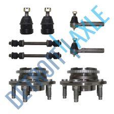 Buy 8 pc Kit 2 Wheel Hub Bearing w/ ABS + 2 Ball Joint + 2 Tie Rod + 2 Sway Bar Link