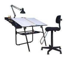 Buy Chairs Padded Drafting Seat Back Office Boss Desk Furniture Chrome Home Gift Wow