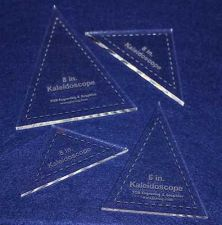 "Buy 4 Piece Set Kaleidoscope 6"" & 8"" Templates Acrylic ~1/4"" thick. Quilting/Sew"