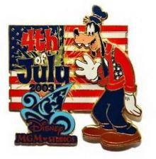 Buy Disney Goofy MGM Studio July 4th Patriotic Sorcerer's Hat pin/pins
