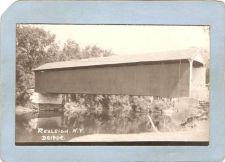 Buy New York Rexleigh Covered Bridge Postcard Covered Bridge Real Photo Post C~1066