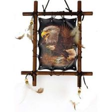 Buy Wooden Frame Eagle Picture (Dream Catcher) ***ON SALE***