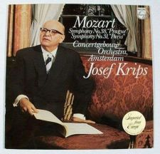 "Buy MOZART ~ Symphonies No. 38, ""Prague""- No. 31, ""Paris"" Josef Krips Classical LP"