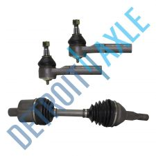 Buy 98-09 Front Driver Side Buick Chevy Axle Shaft Assembly + 2 Outer Tie Rods