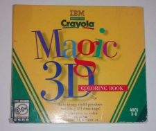 Buy 1997 CRAYOLA MAGIC 3D COLORING BOOK PC CD - WINDOWS 3.1/95 COMPLETE AGES 3-8