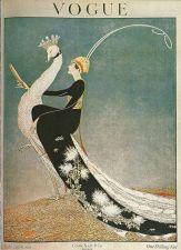 Buy Vogue 1918 Cover Print Lady Peacock Fashion Art Deco 1984 original print