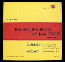 """Buy SCHUBERT / MOZART ~ Paul Badura-Skoda & Joerg Demus """" Piano 4 Hands """" LP"""