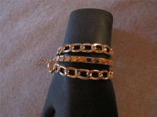 "Buy Womens Gold tone 3 Chain fashion Bracelet 8 1/4"" to 10"" # 46"