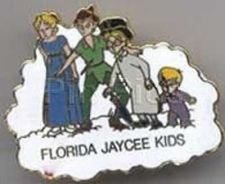 Buy Disney Peter Pan Wendy Michael, Wendy, John Florida full body Jaycees pin/pins