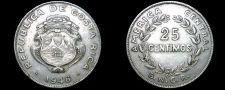Buy 1948 Costa Rican 25 Centimos World Coin - Costa Rica
