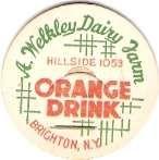 Buy New York Brighton Milk Bottle Cap Name/Subject: A. Welkley Dairy Farms Ora~506