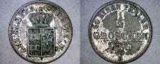 Buy 1866-B German States Oldenburg 1/2 Groschen World Silver Coin