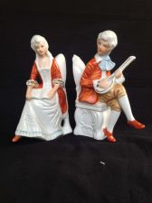 Buy antique porcelain, German Couple on chair. Marked.