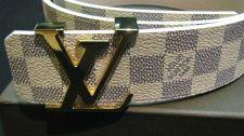 Buy louis vuitton damier azur mens belt