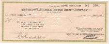 Buy New York New York Cancelled Check American Exchnge Irving Trust Company Ch~76