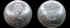 Buy 1973 Canadian Silver 5 Dollar World Coin - Canada 1976 Montreal Olympics