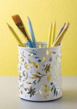 Buy Design Ideas Vinea Pencil Cup White Pen Pencil Accessories Storage Desktop Organ