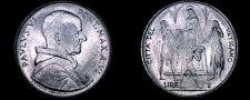 Buy 1968 Vatican City 2 Lire World Coin - Catholic Church Italy