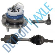 Buy 3 pc Set: Front Driver CV Axle + Outer Tie Rod + Wheel Hub Bearing w/ ABS; FWD
