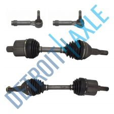 Buy 2 Complete Front Driver AND Passenger CV Axle Drive Shafts + 2 Outer Tie Rods
