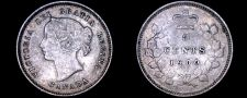 Buy 1900 Canada 5 Cent World Silver Coin - Canada - Victoria - Oval O's