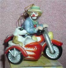 Buy Emmett Kelly Jr. Motorcycle w/ side car side kick circus clown ornament Flambro