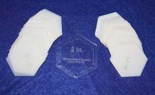 "Buy Mylar 2"" Hexagon- 51 Piece Set - Quilting / Sewing Templates -"